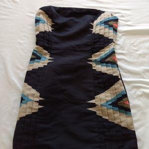 Tribal Pattern Mini Dress